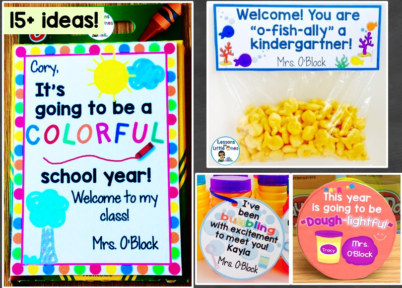Back to School, Open House, Meet the Teacher Student Gift Ideas & Gift Tags
